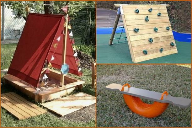 Как построить на даче детскую площадку своими руками