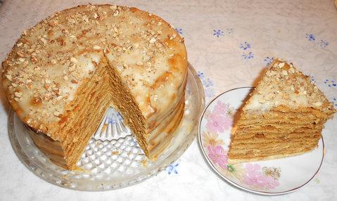 медовый заварной торт с заварным кремом рецепт с фото пошагово