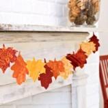 Оригинальный осенний декор для вашего дома. Гирлянда из листьев.