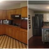Стильное превращение старой и скучной кухни