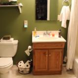Ванная комната «под дерево» своими руками